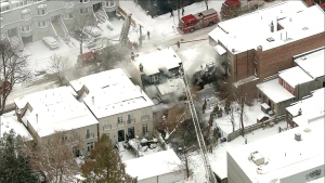 Crews are on the scene of a three-alarm fire at a Midtown home.