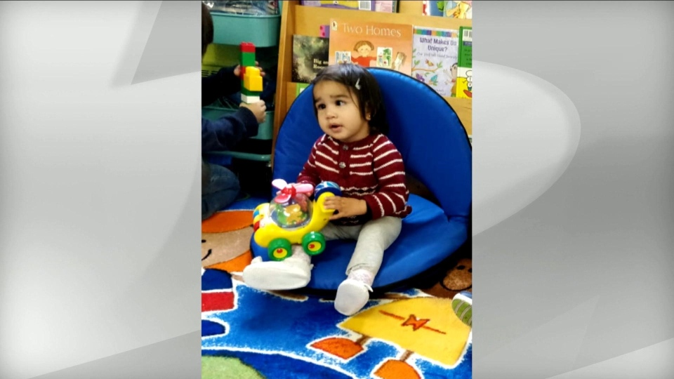 Crystal, a two-year-old girl fatally struck by a falling air conditioning unit in Scarborough is pictured. (GoFundMe)
