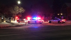 Police are investigating after shots were fired in Mississauga early Wednesday morning. (Michael Nguyen/ CP24)