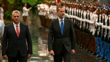 Miguel Diaz-Canel and King Felipe