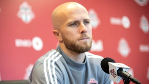 Toronto FC's Michael Bradley speaks to the media during an end of season availability in Toronto on Wednesday, November 13, 2019. THE CANADIAN PRESS/Chris Young