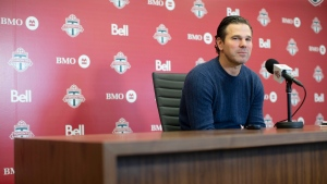 Toronto FC head coach Greg Vanney speaks to the media during an end of season availability in Toronto on Wednesday, November 13, 2019. THE CANADIAN PRESS/Chris Young