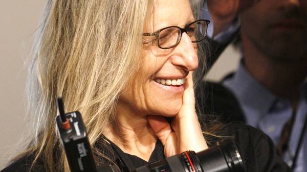 Annie Leibovitz Is Pictured During A Photo Shoot While On Assignment For Vanity Fair Magazine In