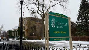 Havergal College is shown in Toronto on Thursday Nov. 14, 2019. A Toronto father alleges in a lawsuit filed against Havergal College that the prestigious girls private school expelled his seven-year-old daughter because he complained that she was bullied, while the school claims his own inappropriate behaviour is the cause of her expulsion. THE CANADIAN PRESS/Frank Gunn