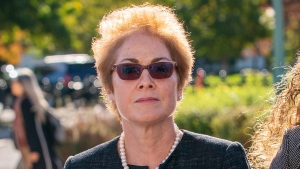 "In this Oct. 11, 2019, file photo, former U.S. ambassador to Ukraine Marie Yovanovitch, arrives on Capitol Hill in Washington. The House will hear from a singular witness Friday in the Trump impeachment hearings, Yovanovitch, who was targeted by the president's allies in a ""smear"" campaign now central to the inquiry. (AP Photo/J. Scott Applewhite, File)"