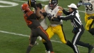 NFL player Myles Garrett has been suspended following a fight at the end of the play.