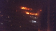 Toronto fire are battling a three-alarm blaze in North York. (CP24)