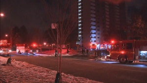 No injuries reported after a two-alarm fire broke out at a Scarborough highrise. (CP24)