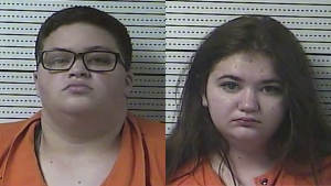 A Kentucky pet store owner says Mason (left) and Jaimee Pack stole a pair of guinea pigs, lobbing one of the animals at him during their escape on Saturday. (Boyle County Detention Center via AP)