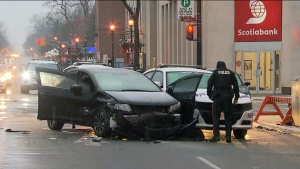 Officials are investigating a Brampton crash involving a police cruiser. (CP24)