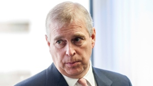 In this Monday, April 13, 2015 file photo, Britain's Prince Andrew visits the AkzoNobel Decorative Paints facility in Slough, England. (David Parker/Pool Photo via AP, File)