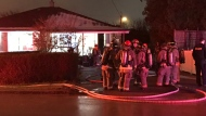 An elderly man was rushed to a trauma centre for treatment following a fire at a home in North York. (Mike Nguyen/ CP24)
