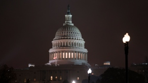 The Capitol in Washington is seen early Tuesday, Nov. 19, 2019, as the House Intelligence Committee begins a second week of public hearings as part of its impeachment inquiry into President Donald Trump's efforts to tie U.S. aid for Ukraine to investigations of his political opponents. (AP Photo/J. Scott Applewhite)