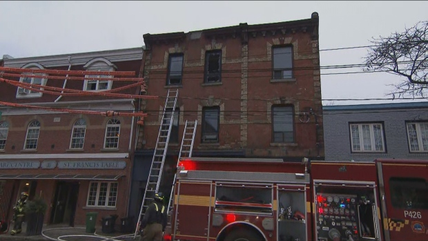 Crews are on the scene of a fire at a restaurant in Parkdale.