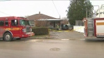 A fire in North York sent an elderly man to hospital with serious injuries.