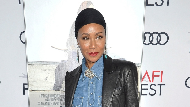 "FILE - This Nov. 18, 2019 file photo shows Jada Pinkett Smith at the premiere of ""Hala"" at 2019 AFI Fest in Los Angeles. Pinkett Smith says she's very comfortable sharing personal information on her show ""Red Table Talk,"" and she says she expects to do a lot more in future episodes. (Photo by Richard Shotwell/Invision/AP, File)"