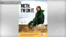 A still image from South Dakota's Meth, I'm on it' campaign is pictured.