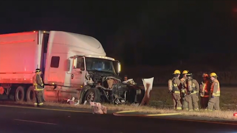Police are investigating a fatal wrong-way crash near St. Catharines overnight.