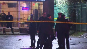 A man is in serious condition after being shot outside of a bar in Scarborough, early this morning.