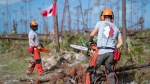 Members of Team Rubicon help clean up after Hurricane Dorian ripped through the Bahamas in early September in this undated handout photo. THE CANADIAN PRESS/HO - Darragh O'Carroll