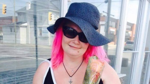 "Friends have identified the victim as Christye ""Pink"" Tingey. She was fatally struck struck by a vehicle in Oshawa. (Supplied)"