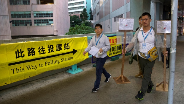 Hong Kong to hold district council election amid continuing protest