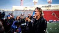 CFL Grey Cup halftime show entertainer Keith Urban speaks to the media in Calgary, Alta., Saturday, Nov. 23, 2019.THE CANADIAN PRESS/Jeff McIntosh