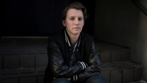 Transgender hockey player Harrison Browne poses for a photograph in Toronto on Wednesday, November 20, 2019. The goals are big for an all-transgender hockey team known as Team Trans. THE CANADIAN PRESS/ Tijana Martin