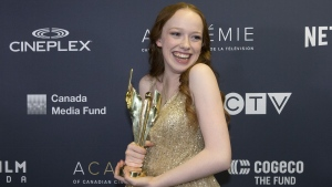"Amybeth McNulty poses for a photo after winning the Best Actress in a Drama Series Award for ""Anne with an E"" at the Canadian Screen Awards in Toronto on Sunday, March 31, 2019. THE CANADIAN PRESS/Chris Young"