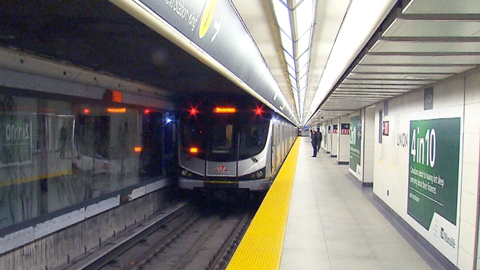 A TTC subway train is seen in this photo. ( CTV News Toronto)