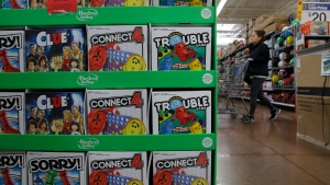 Hasbro toys are on display at a Walmart Supercenter, Wednesday, Nov. 27, 2019, in Las Vegas. Black Friday once again kicks off the start of the holiday shopping season. But it will be the shortest season since 2013 because of Thanksgiving falling on the fourth Thursday in November, the latest possible date it can be. (AP Photo/John Locher)