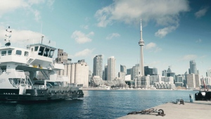 A PortsToronto ferry is pictured in this handout image.