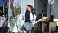 """Alanis Morissette performs at the Gentilly Stage at the New Orleans Jazz & Heritage Festival in New Orleans, Thursday, April 25, 2019. Morissette is set to go on a world tour celebrating the 25th anniversary of her breakthrough album """"Jagged Little Pill."""" THE CANADIAN PRESS/AP-Doug Parker"""