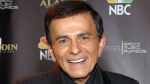 In this Oct. 27, 2003, file photo, Casey Kasem poses for photographers after receiving the Radio Icon award during The 2003 Radio Music Awards at the Aladdin Resort and Casino in Las Vegas. (AP Photo/Eric Jamison, File)