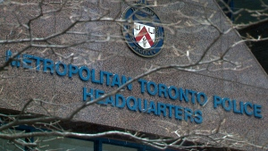 The outside of Toronto Police Headquarters downtown is seen. (CTV News Toronto)