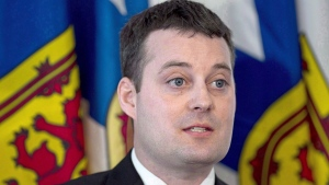 Randy Delorey attends a briefing at the legislature in Halifax on Tuesday, April 19, 2016. The Nova Scotia government has joined a growing list of provinces that are clamping down on vaping. Health Minister Randy Delorey announced today that the province will be the first to ban sales of flavoured e-cigarettes and juices as of April 1, 2020.THE CANADIAN PRESS/Andrew Vaughan