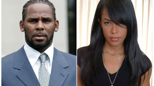 FILE - Federal prosecutors are accusing singer R. Kelly of scheming with others to pay for a fake ID for an unnamed female a day before he married R&B singer Aaliyah, then 15 years old, in a secret ceremony in 1994 according to a revised indictment filed Thursday, Dec. 5, 2019. (AP Photo/File)