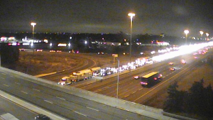 OPP are investigating a fatal collision on the westbound lanes of the QEW near Dorval Drive in Oakville. (OPP)