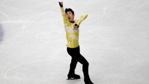 United States' Nathan Chen competes in the men's free skating during the figure skating Grand Prix finals at the Palavela ice arena, in Turin, Italy, Saturday, Dec. 7, 2019. (AP Photo/Antonio Calanni)