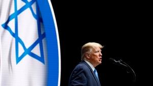 President Donald Trump speaks at the Israeli American Council National Summit in Hollywood, Fla., Saturday, Dec. 7, 2019. (AP Photo/Patrick Semansky)