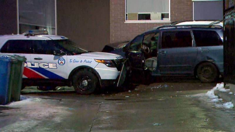 A man in his 40s was taken to a trauma centre with serious injuries after an overnight incident involving Toronto police.