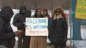 Community rallies behind residents displaced by North York apartment fire last month. (CP24)