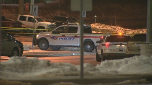 Police are investigating after shots were fired at a vehicle in a commuter parking lot in Richmond Hill. (CP24)