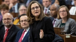 Deputy Prime Minister and Minister of Intergovernmental Affairs Chrystia Freeland responds to a question during Question Period in the House of Commons Monday December 9, 2019 in Ottawa. THE CANADIAN PRESS/Adrian Wyld