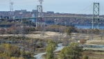 Shannon Park, a former military housing complex in Dartmouth, N.S., and the expected site of a proposed stadium to house a Canadian Football League team, remains a fenced-in park on Tuesday, Oct. 22, 2019. The fate of a private group's bid to bring CFL football to Halifax could be decided today by regional council. THE CANADIAN PRESS/Andrew Vaughan