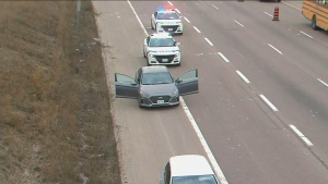 An interaction between police and a passenger during a traffic stop on Highway 410 prompted police to close three northbound lanes of the highway for several hours.