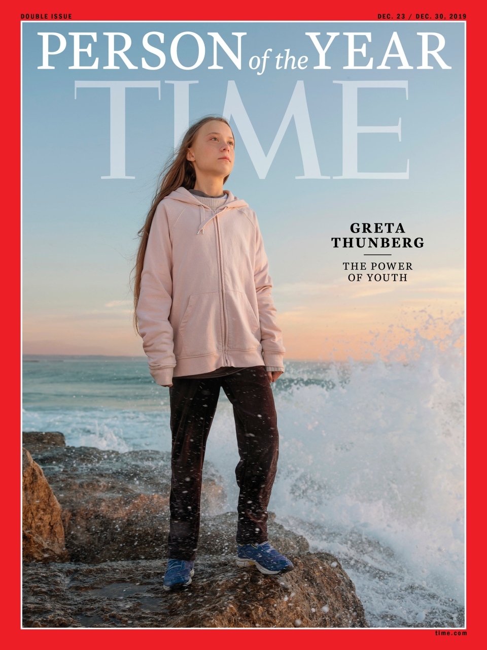 "This photo provided by Time magazine shows Greta Thunberg, who has been named Time's youngest ""person of the year"" on Wednesday, Dec. 11, 2019. The media franchise said Wednesday on its website that Thunberg is being honored for work that transcends backgrounds and borders. (Time via AP)"