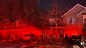 Toronto Fire are investigating a fatal two-alarm blaze in Etobicoke that killed one person and injured two people. (Peter Muscat)