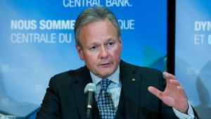 Bank of Canada governor Stephen Poloz speaks with the media after speaking in Toronto on Thursday, December 12, 2019. THE CANADIAN PRESS/Nathan Denette