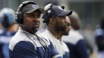 Toronto Argonauts' head coach Corey Chamblin looks on during preseason CFL game action against the Montreal Alouettes at Varsity Stadium in Toronto, Thursday, May 30, 2019. THE CANADIAN PRESS/Cole Burston